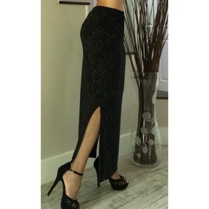 Women's Fashion Bug Black Sparkle Skirt